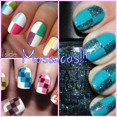 nail arts mosaicos