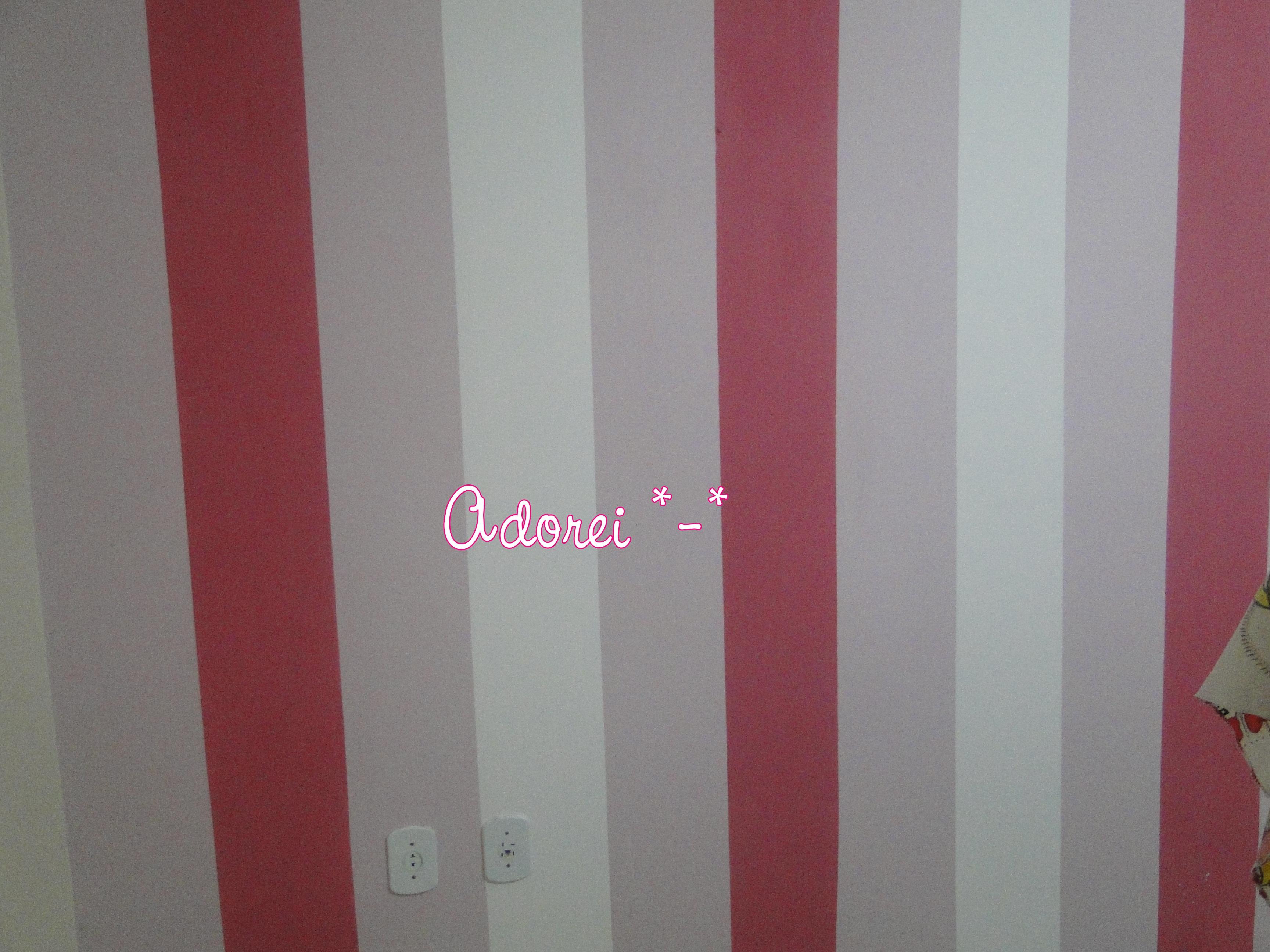 Fazendo listras no meu quarto ! Blog Cíntia Leite Moda  ~ Quarto Rosa Listras