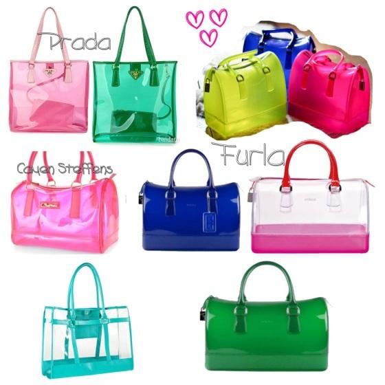 Bolsas transparentes coloridas